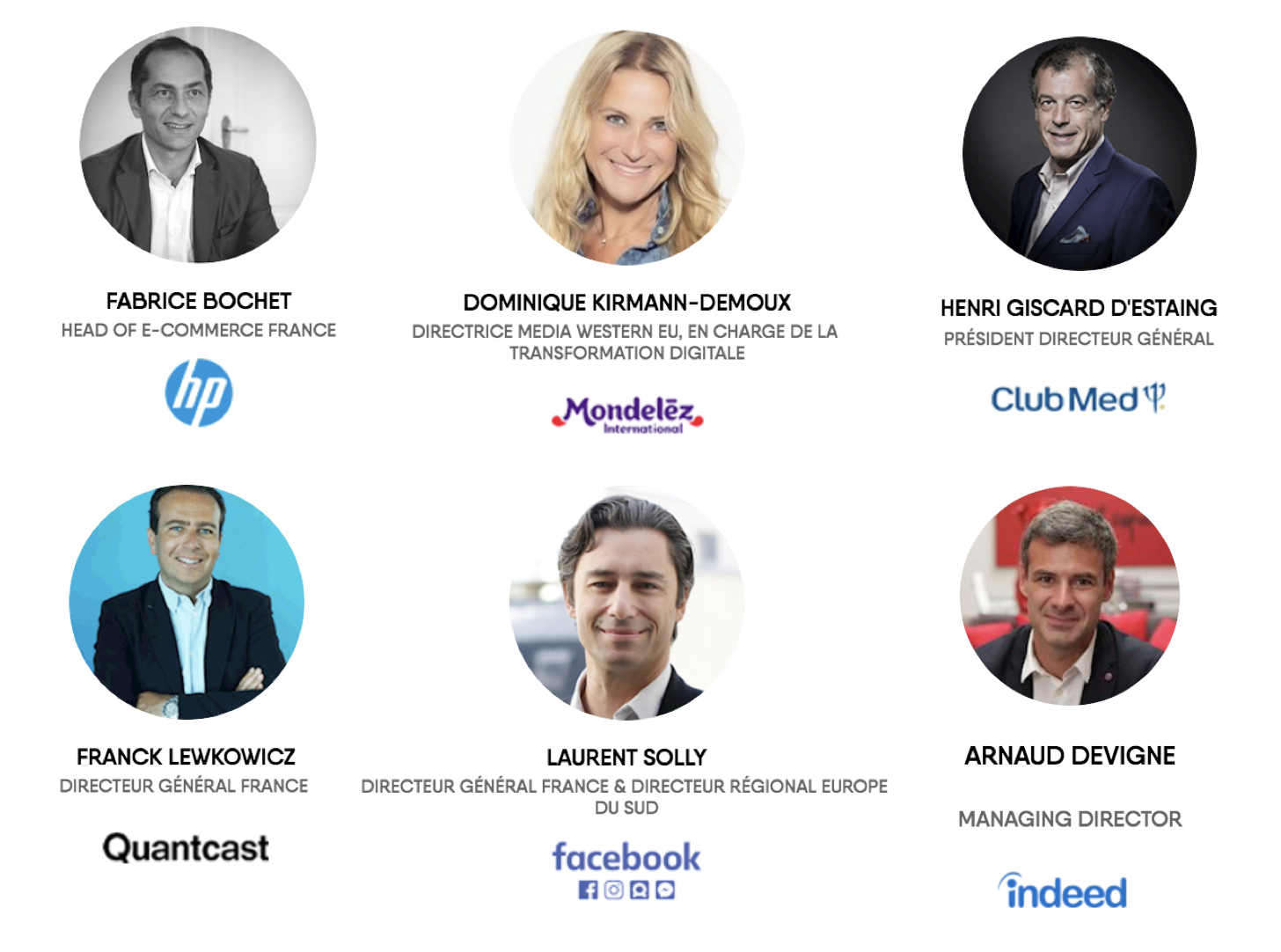 les speakers du HUBFORUM 2