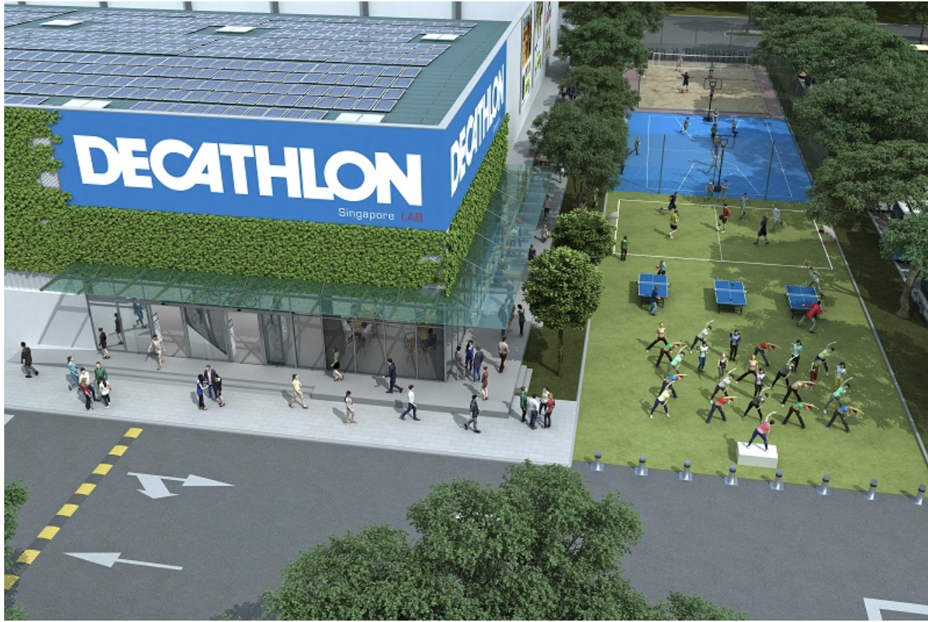 Le projet Decathlon Singapore lab