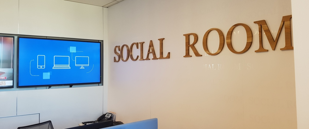 Dans la social room d'Axa France