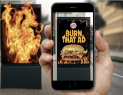 la campagne 'Burn that Ad' de Burger King